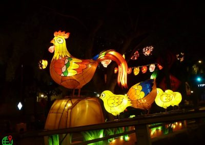 Year of the Rooster Chinese New Year Decorations in Singapore