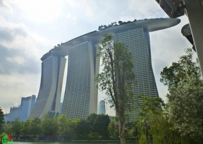 View of Marina Bay Sands Hotel in Singapore