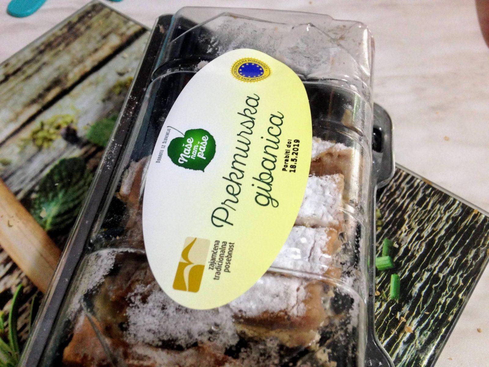 Prekmurska gibanica pastry in Slovenia